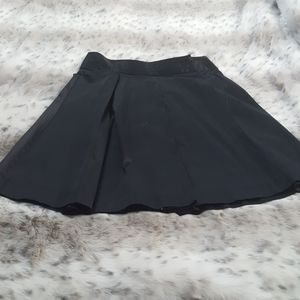 Limited black faux silk full skirt